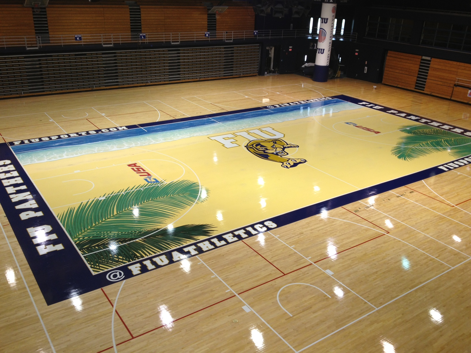 east court a stories srx spokane wooden mar ncaa the is floor courts out r for floors inside remake laid with logo basketball shipped arena